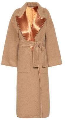 Bottega Veneta Satin-trimmed wool coat