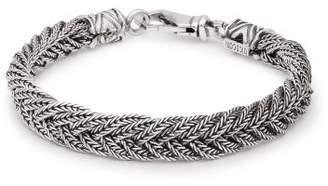 Emanuele Bicocchi Braided Sterling Silver Bracelet - Mens - Silver