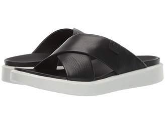 7b60b5a6208d Ecco Black Leather Lined Women s Sandals - ShopStyle