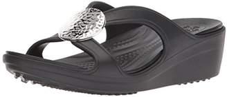 Crocs Women's Sanrah Hammered Circle Wedge Sandal