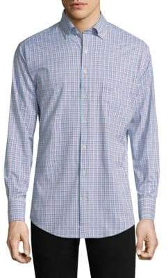 Peter Millar Smedes Performance Check Button-Down Shirt