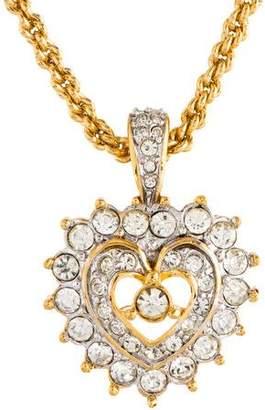 Nina Ricci Crystal Heart Pendant Necklace