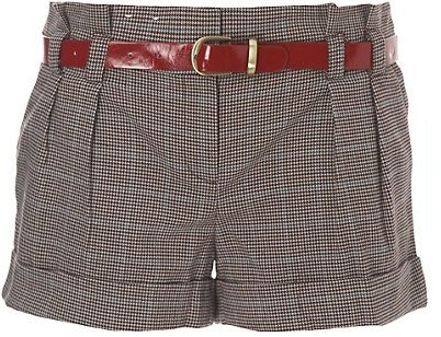 Belted Tweed Shorts