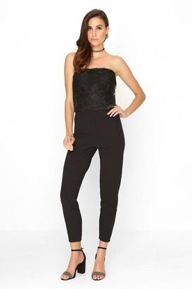 c37938f072 Outrageous Fortune Black Lace Jumpsuit