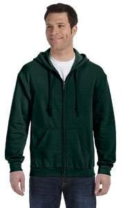 Gildan Heavy Blend Unisex Adult Full Zip Hooded Sweatshirt Top (XXL)
