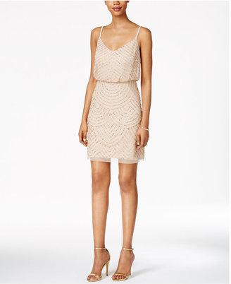 Adrianna Papell Beaded Blouson Dress $200 thestylecure.com