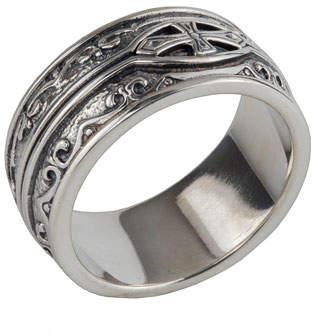 Konstantino Men's Sterling Silver Cross Ring
