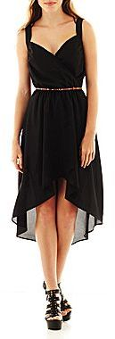 JCPenney HOLLYWOULD Surplice Cutout Dress
