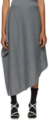 J.W.Anderson Grey Merino Asymmetric Skirt