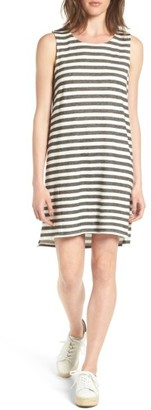 Women's Caslon Tie Back Stripe Dress $59 thestylecure.com