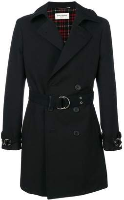 Saint Laurent double breasted belted coat