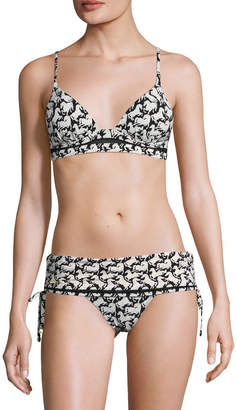 Stella McCartney Swim Iconic Prints Fold Down Bikini Bottom