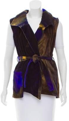 Kimberly Ovitz Tie-Dye Print Velvet Vest