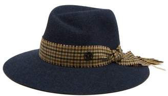 Maison Michel Virginia Rabbit Felt Fedora Hat - Womens - Blue