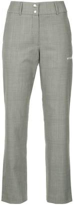 Misbhv houndstooth slim-fit cropped trousers