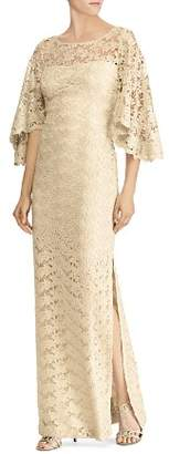 Ralph Lauren Flutter-Sleeve Lace Gown - 100% Exclusive