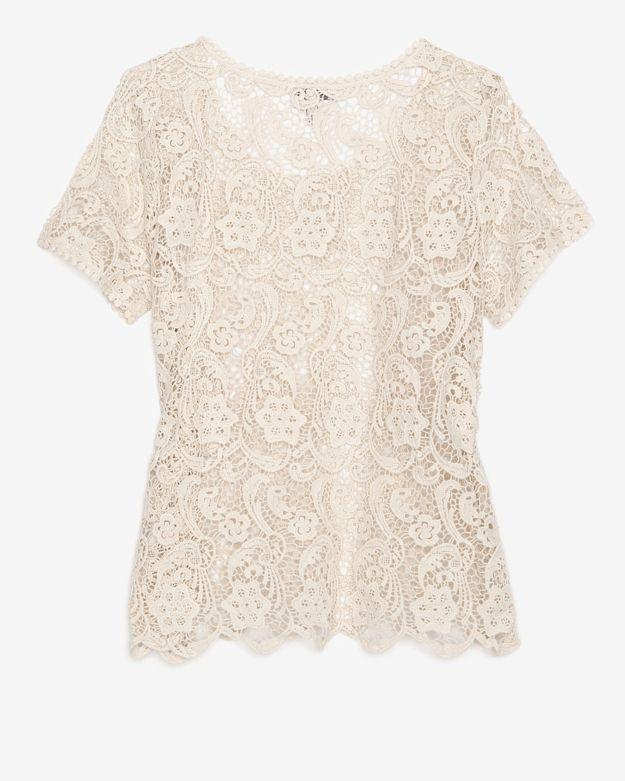 Joie Crochet Cotton Lace Top