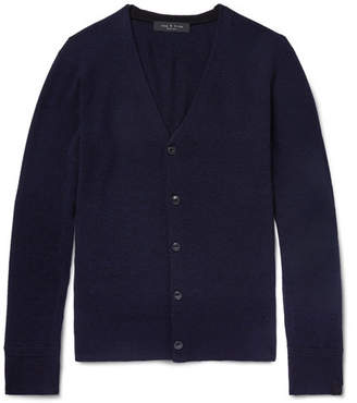 Rag & Bone Gregory Stretch Merino Wool-Blend Cardigan - Men - Navy