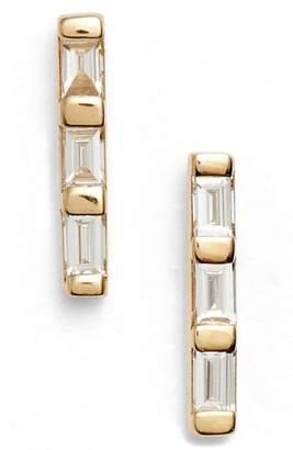 Ef Collection Diamond Bar Stud Earrings