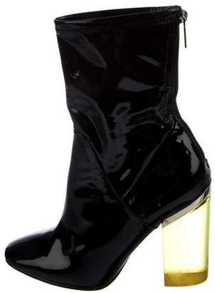 Christian Dior Patent Lucite Heel Booties