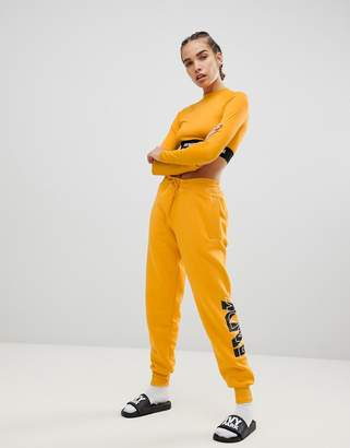 Ivy Park Logo Joggers In Yellow