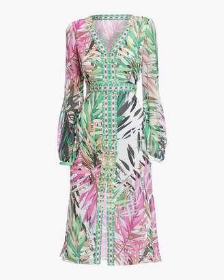 Badgley Mischka Midi Printed Dress