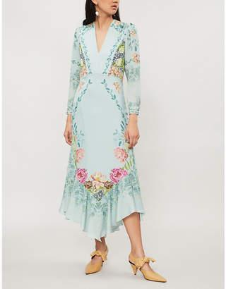 Vilshenko Phoebe floral-print silk midi dress