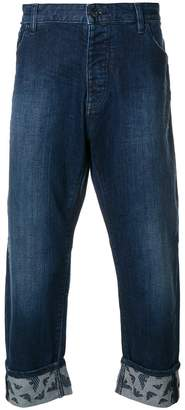 Emporio Armani cropped turn-up jeans