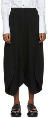 Issey Miyake Black Bloom Pleats Trousers