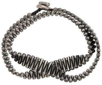 M. Cohen double wrap cone bead bracelet