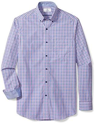 Buttoned Down Men's Classic Fit Supima Cotton Button-Collar Dress Casual Shirt