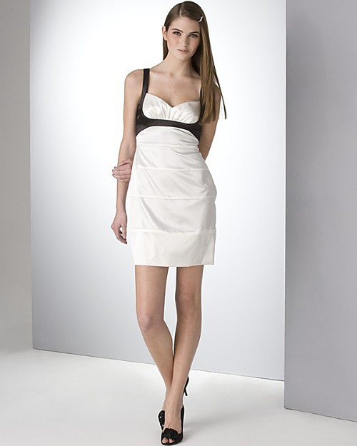 BCBGMAXAZRIA charmeuse banded dress