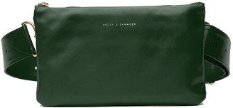 Holly & Tanager Convertible Leather Belt Bag In Emerald