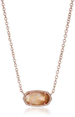 Kendra Scott Signature Elisa Rose Gold Plated Brown Mother-of-Pearl Pendant Necklace