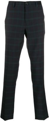Paul Smith tailored tartan print trousers