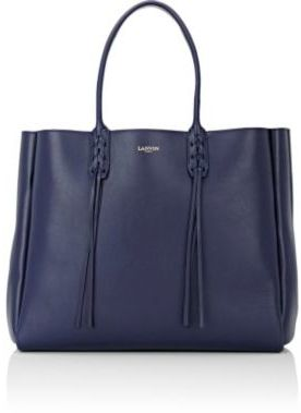 Lanvin Women's Tassel-Handle Extra-Large Shopper-NAVY $1,650 thestylecure.com