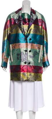Marco De Vincenzo Brocade Short Coat