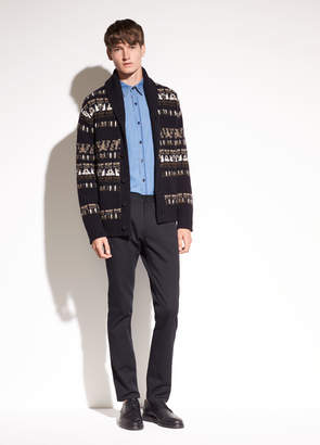 Vince Fair Isle Wool Cardigan