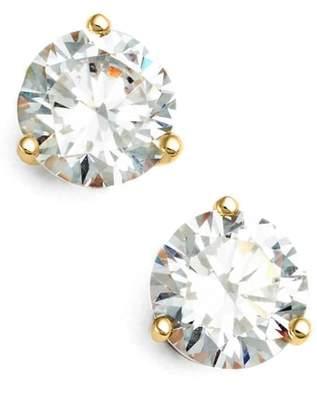Nordstrom Precious Metal Plated 2ct tw Cubic Zirconia Earrings