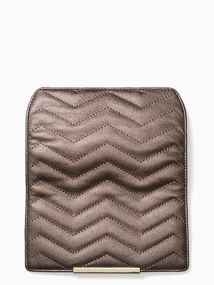 Kate Spade Make it mine reese park metallic quilted flap