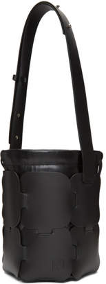 Paco Rabanne Black Small Calfskin Hobo Bag