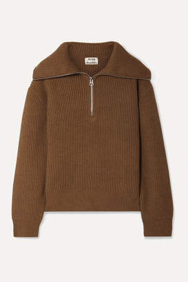 Acne Studios Kelanie Ribbed Wool-blend Sweater - Brown