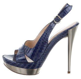 CasadeiCasadei Embossed Platform Sandals