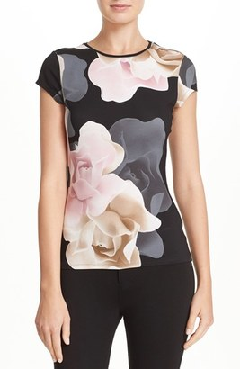 Women's Ted Baker London 'Tarlia - Porcelain Rose' Fitted Tee $75 thestylecure.com