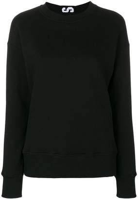Versus rear logo stripe sweatshirt