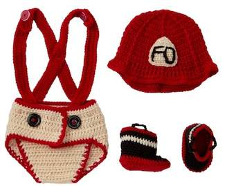So'dorable Fire Department Crocheted Hat, Diaper Cover, & Booties Set (Baby)