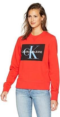 Calvin Klein Jeans Women's Long Sleeve Sweatshirt Monogram Logo