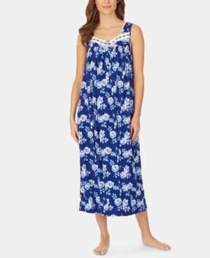 Eileen West Lace-Trim Knit Ballet-Length Nightgown