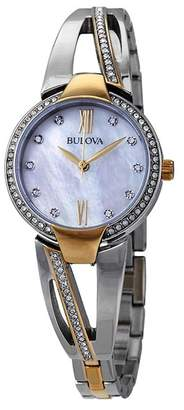 Bulova Women's Two-Tone Crystal Watch, 27mm
