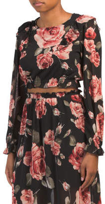 Long Sleeve Fall Floral Top